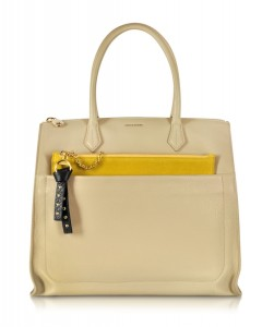 Sonia Rykiel Stephane Beige Leather Handbag