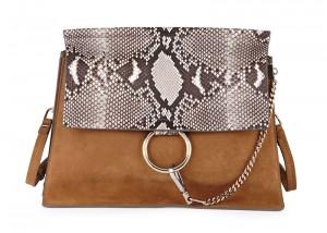 Chloé Fay Python Flap Shoulder Bag