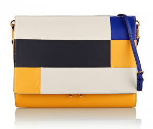Marni File Colorblock Leather Clutch
