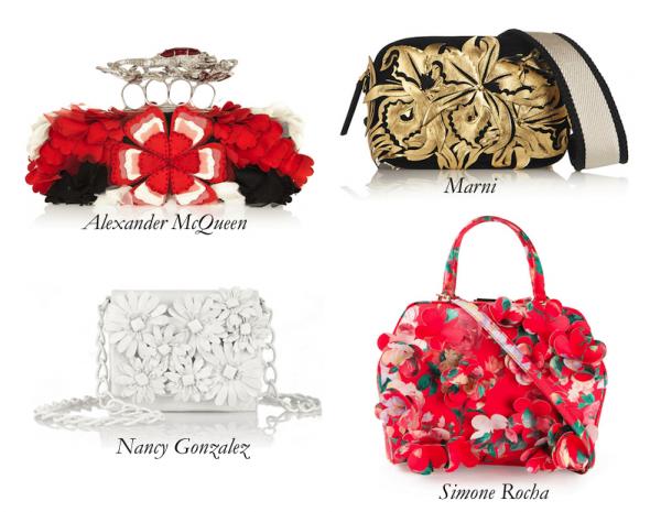Top Floral Appliqué Bags