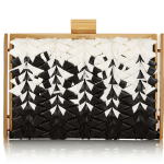 Nina Ricci Ecrin Grosgrain and Leather Box Clutch: Get Into the Grosgrain Groove