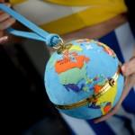 Olympia Le-Tan Globe Clutch: Sittin' On Top of the World