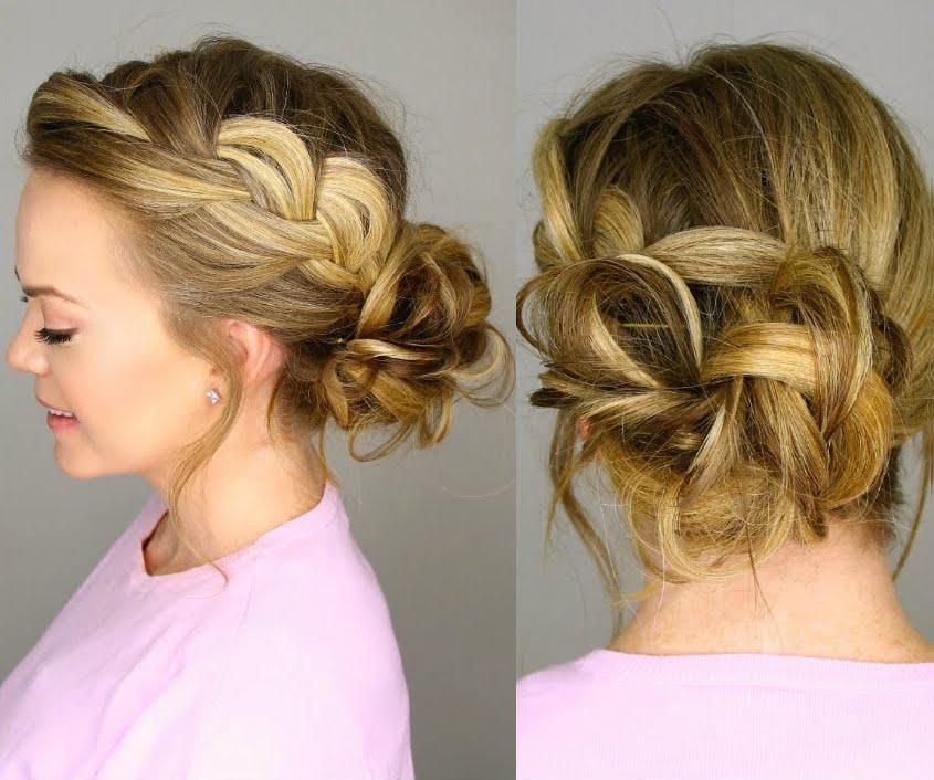 Прическа небрежные косы фото