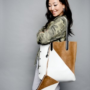 Elizabeth and James Scott Two-Tone Bag: The Daily Show