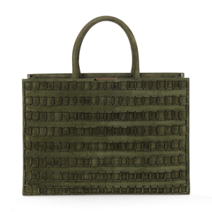 Tomasini Paris ET10 Suede Tote: It's Hot to Be Square