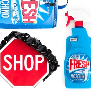 Moschino Fresh Print Backpack, Shop Shoulder Bag, and Fresh iPhone 6 Cover: Let's Take a Commercial Break