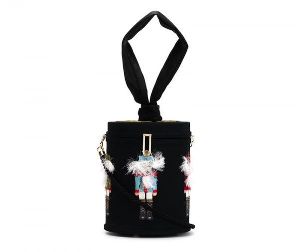 Olympia Le-Tan Solider Appliqué Cylinder Clutch