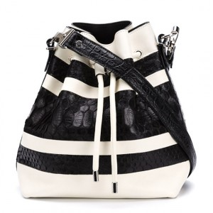 Proenza Schouler Striped Medium Shoulder Bag: The High Line