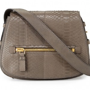 Tom Ford Jennifer Medium Python Shoulder Bag: Hip to the Zip