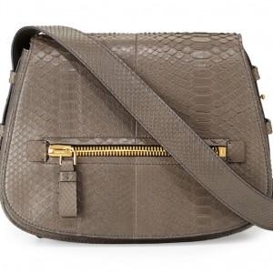 Tom Ford Jennifer Medium Python Shoulder Bag: Hip to the Zip