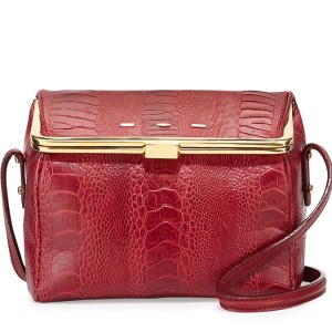 VBH Audrey Ostrich & Vitello Box Crossbody: Tackle It