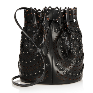 Alaïa Laser-Cut Leather Shoulder Bag: Fresh Cut