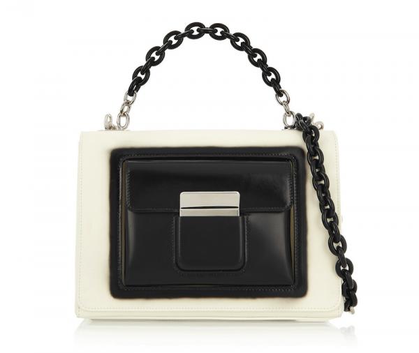 Balenciaga Bal58 Leather Shoulder Bag
