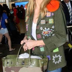 Heidi Klum x Hermès Birkin: A Camo Cameo