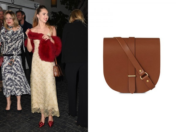 Suki Waterhouse x Cambridge Satchel Saddle Bag