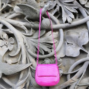 Valentine's Day Giveaway: Nancy Gonzalez Pink Crocodile Saddle Bag!