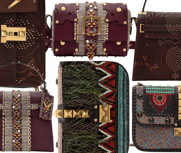 Valentino Spring '16 Hand-Painted My Rockstud, Embellished Lock, and Laser-Cut Leather Bags