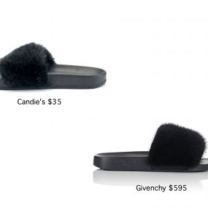 Givenchy vs Candie's Fur Sandals: Fur Fun's Sake