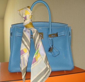 hermes bag scarf handle