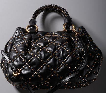 Miu Miu Studded Bag: Snob or Slob? - Snob Essentials : miu miu quilted bag - Adamdwight.com