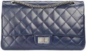 1Dark blue leather 2.55 bag_sac 2.55 en cuir bleu foncé.jpg