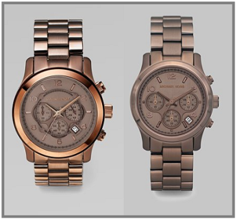 MIchael Kors Stainless Steel Chronograph Watches