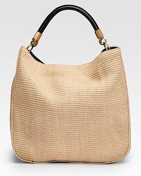 Yves Saint Laurent Raffia Roady Large Hobo: Bag of Sunshine - Snob ...
