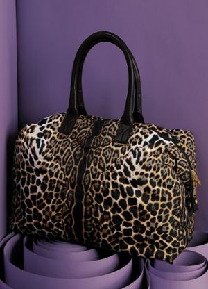 Yves Saint Laurent Leopard Print Nylon Bowler - Snob Essentials