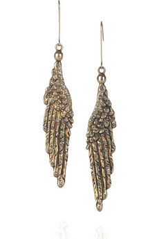 Emilio Pucci Glass Crystal Wing Earrings