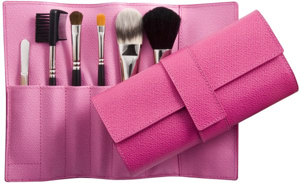 Makeup brush roll bag