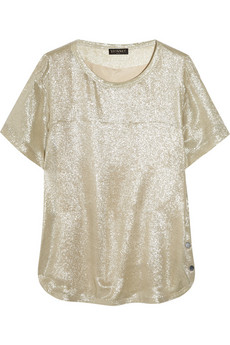 Vionnet Metallic Silk Blend Top