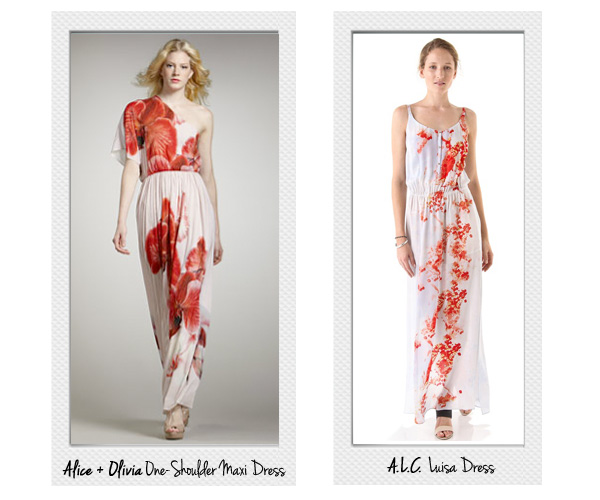 Alice + Olivia One Shoulder Dress, A.L.C. Maxi Dress