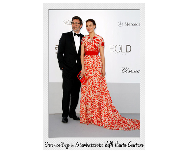Berenice Bejo wears Giambattista Valli Haute Couture in Cannes