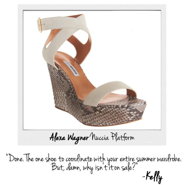 Alexa Wagner Python Platform Sandal Shoe at Barneys New York