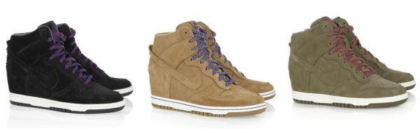 5dfbeba00e4 Nike Dunk Sky Hi Suede Wedge Sneakers