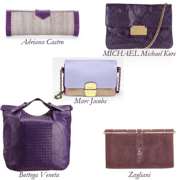 Bottega Veneta, Zagliani, Marc Jacobs, MICHAEL Michael Kors, Adriano Castro Purple Bags