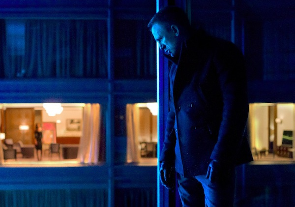 Daniel Craig in Skyfall wearing a Billy Reid Peacoat