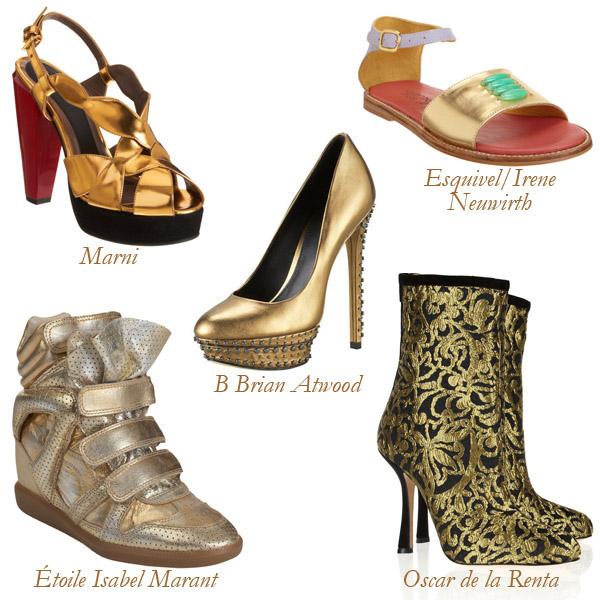 Marni, Étoile Isabel Marant, B Brian Atwood, Oscar de la Renta, Esquivel/Irene Neuwirth Metallic Shoes