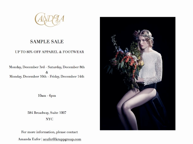 Candela Sample Sale