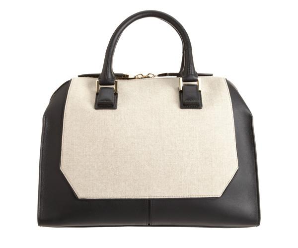 Narciso Rodriguez Mixed Materials Bowler Bag