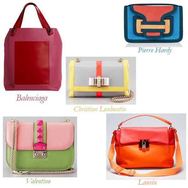 Balenciaga Pocket Tote, Valentino Shoulder Bag, Louboutin, Pierre Hardy Clutch, Lanvin