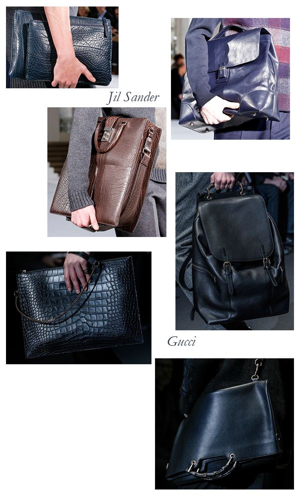 Jil Sander and Gucci Fall 2013 Mens Bags