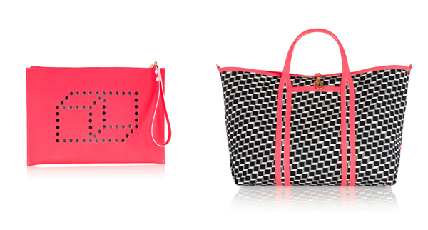 Pierre Hardy Perforated Clutch and Cube-Print Tote