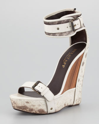 Belstaff Snakeskin Wedge Sandal