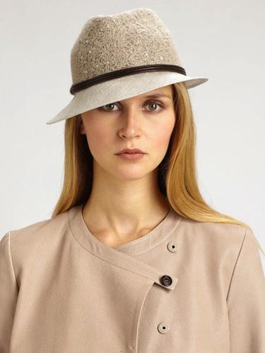 Brunello Cucinelli Embroidered Straw Hat