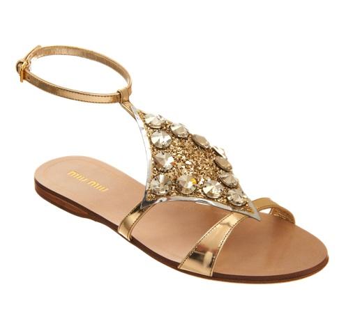 Miu Miu Embellished Slingback Sandal