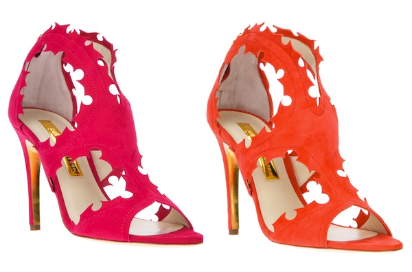Rupert Sanderson Cut-Out Sandal Pump