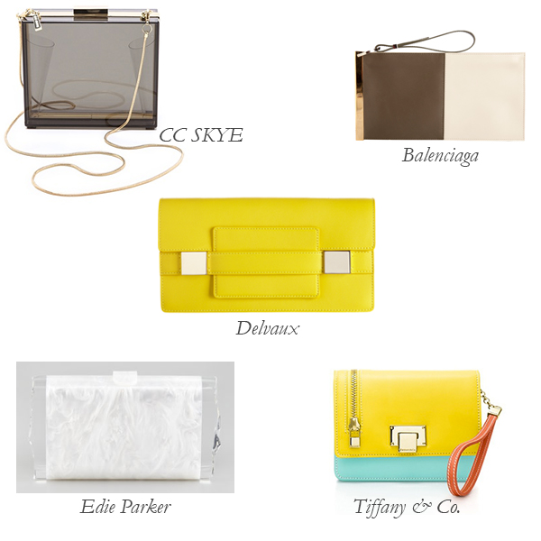 CC Skye, Edie Parker, Tiffany & Co., Delvaux, Balenciaga Summer Clutches