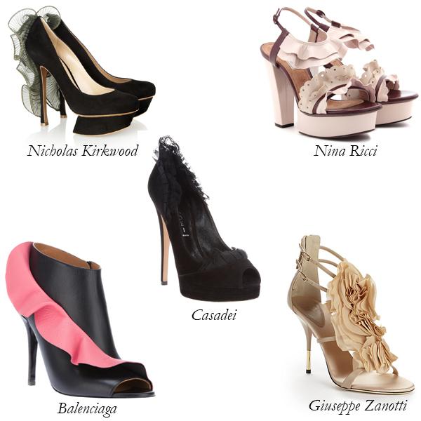 Top 5 Ruffled Shoes
