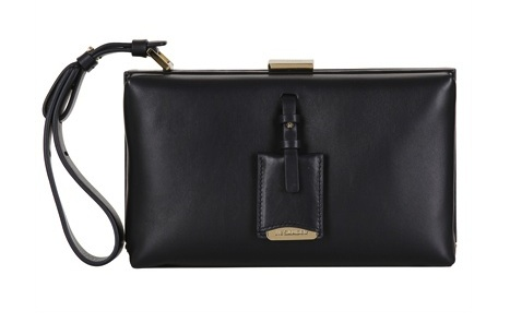 Jil Sander Nencini Leather Box Clutch